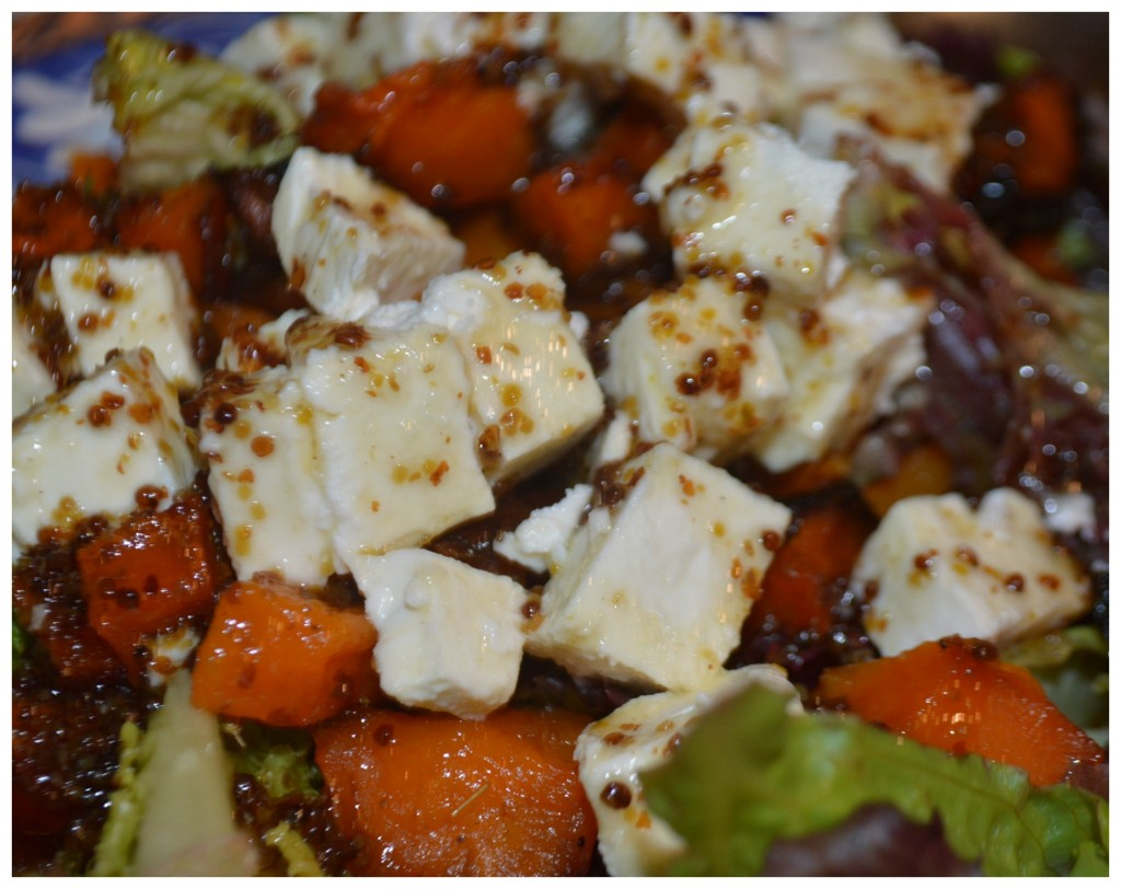 Roasted Butternut Squash And Feta Salad With Honey And Mustard ...