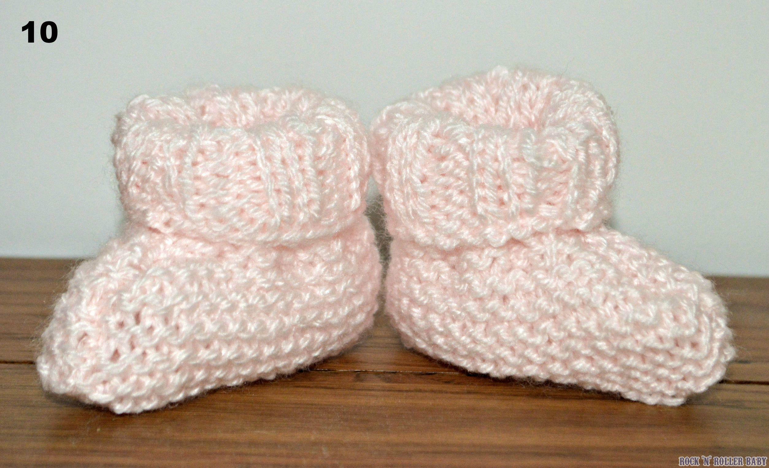 Very Easy How To Knit Baby Booties! | RocknRollerBaby
