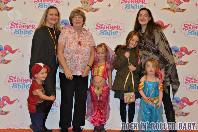 The Shimmer and Shine premiere with my Mum and friends from Family Four Fun!