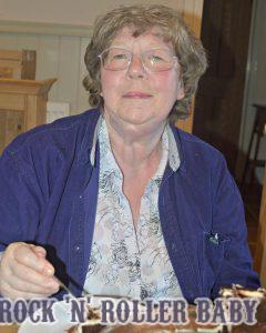 My Mum on her birthday eating a cake which I had made and which wasn't a patch on hers of course!