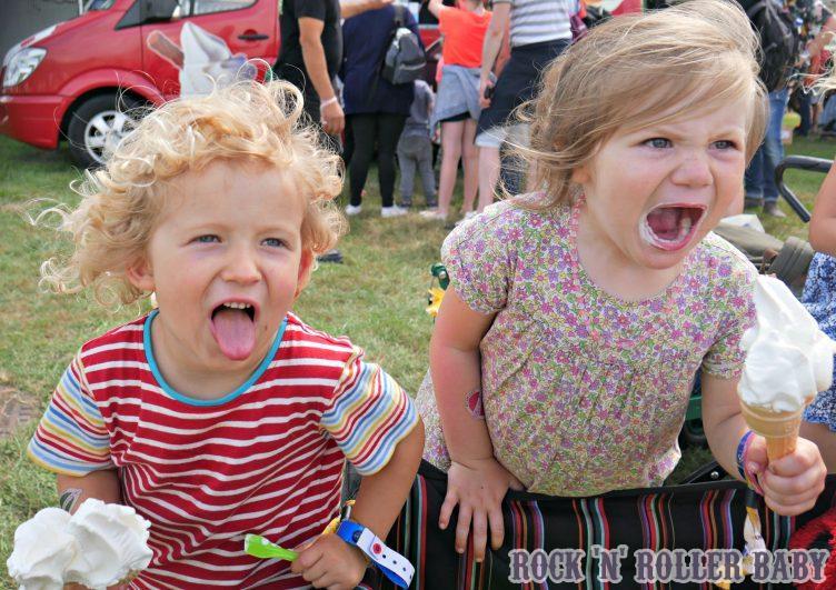 Ice cream faces!