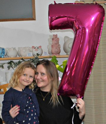 Florence and I celebrating her 7th birthday a few week's early with her party!